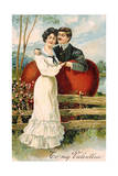 To My Valentine Postcard with Couple Giclee Print by David Pollack