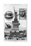 New York - Progress of the Work on Bartholdi's Statue of Liberty, Bedloe's Island. from a Sketch By Giclee Print