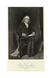 Portrait of Benjamin Franklin Sitting in Chair Giclee Print