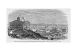 The Union Pacific Railroad--Omaha, Nebraska, the Eastern Terminus, as Seen from the Old Capitol. Giclee Print