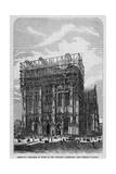 Germany - Progress of Work on the Cologne Cathedral - the Western Facade. Giclee Print