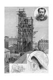 The Bartholdi Statue of Liberty. Drawn by John Durkin. See Page 47. Giclee Print