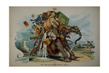 Roosevelt and Taft Cartoon Giclee Print by David J. Frent