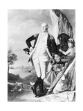 Illustration of George Washington Standing next to Cannon Giclee Print