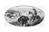 Wild West -- Indian during Buffalo Hunt Giclee Print