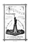 Program Souvenir for Statue of Liberty Giclee Print