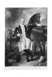 General George Washington W/Horse/Painti Giclee Print