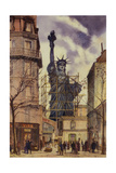 Statue of Liberty Preparing for Shipment Giclee Print