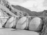 Aerial View of the Coolidge Dam Photographic Print by Philip Gendreau