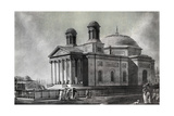 Illustration of Cathedral in Baltimore Giclee Print