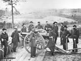 General Sherman and Staff outside Atlanta Photographic Print