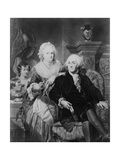George Washington with Wife and Two Children Giclee Print by Philip Gendreau