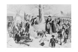 George Washington and Wife at Valley Forge Giclee Print