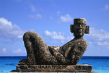 Sculpture by the Ocean in Cancun, Mexico Photographic Print by  Svenja-Foto