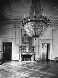 Chandelier Hanging in East Room of White House Photographic Print