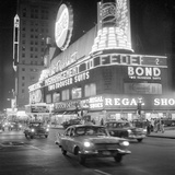 Traffic and Stores in times Square Photographic Print