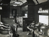 View of Buffet Car on Train Photographic Print