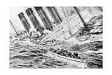Drawing Depicting Lusitania Sinking Giclee Print