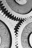 Close up View of Gears Photographic Print by Philip Gendreau