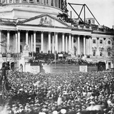 Large Crowd at Abraham Lincoln Inaugural Speech Photographic Print