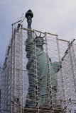 Statue of Liberty with Scaffolding Photographic Print