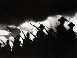 Armed Soldiers Marching Photographic Print