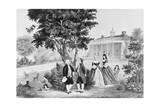 George Washington and General Lafayette Conversing Giclee Print
