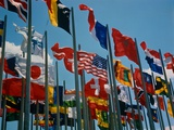 Flags of Different Countries Photographic Print by Philip Gendreau