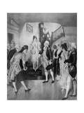George Washington with Bride Martha Curtis Giclee Print