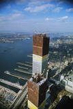 Twin Towers under Construction Photographic Print