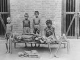Starving Family in India Reproduction photographique