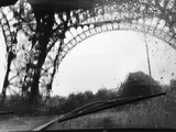 Distorted View of Eiffel Tower through Windshield Photographic Print