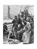 Jewish Refugees Pass Statue of Liberty Giclee Print
