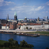 Weser River and Bremen in Germany Photographic Print by Philip Gendreau