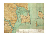 Map of Coast of Venezuela, Gulf of Paria, Mouth of Orinoco River, Islands of Trinidad and Grenada Giclee Print