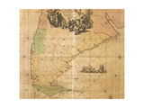 Map of Southern America by Frederick De Wit Giclee Print