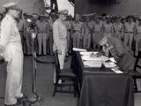 General Yoshira Umeza Signs the Surrender Document 31st August 1945 Photographic Print
