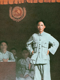 Mao Zedong Addressing an International Communist Conference in Kiangsi Province, 1933 Photographic Print