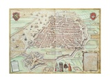 View of Lisbon, 1572, Portugal 16th Century Giclee Print
