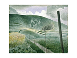 The Long Man of Wilmington Or, the Wilmington Giant, 1939 Giclee Print
