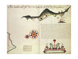 Island of Nevis and Part of Saint Kitts, Saint Christopher, Lesser Antilles Giclee Print
