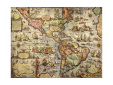 Map of America Created by Joan Blaeu, 1686 Giclee Print
