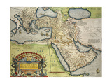 Map of Turkey, from Theatrum Orbis Terrarum, 1528-1598, 1570 Impressão giclée