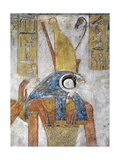 Egypt, Thebes, Luxor, Valley of the Kings, Tomb of Tausert, Mural Painting of Horus Giclée-tryk