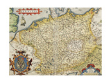 Map of Germany, from Theatrum Orbis Terrarum Giclee Print