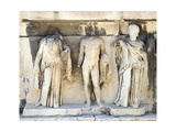 Greece, Athens, the Acropolis of Athens, Dionysus Theatre, Reliefs of Proscenium Giclee Print