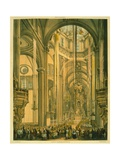 Interior of the Cathedral of Mexico Giclee Print