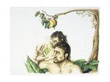 Adam and Eve and Tree of Life Giclee Print