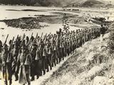 Contingent of the Maori Battalion, 1940 Photographic Print