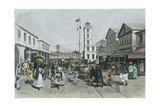 Guyana, Georgetown, Water Street Giclee Print